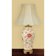 JB Hirsch Star Flower 28'' H Table Lamp with Bell Shade