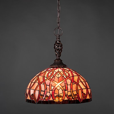 Toltec Lighting Elegant 1-Light Pendant; Persian Nites