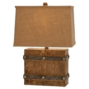 Woodland Imports Modern Suave 23'' H Table Lamp with Rectangular Shade