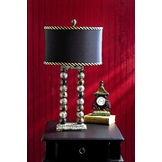 Lex Lighting Taupe Gray and Espresso 29'' H Table Lamp with Drum Shade