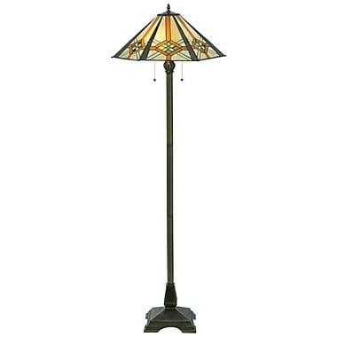 Meyda Tiffany Crosshairs Mission Hex 61'' Floor Lamp