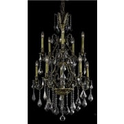 Elegant Lighting Monarch 10 Light  Chandelier; Antique Bronze / Silver Shade (Grey) / Royal Cut