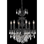 Elegant Lighting Marseille 6 Light  Chandelier; Crystal (Clear) / Elegant Cut
