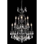 Elegant Lighting Marseille 10 Light Small Chandelier; Crystal (Clear) / Elegant Cut