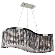 PLC Lighting Clavius-I 8 Light Crystal Chandelier; Clear Crystal