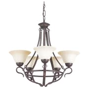 Sunset Lighting 5 Light Chandelier; Rubbed Bronze