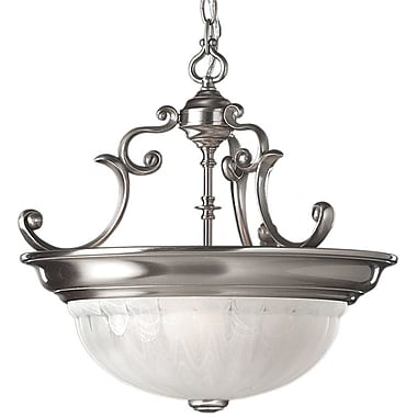 Dolan Designs Richland 3 Light Inverted Pendant; Satin Nickel