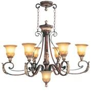 Livex Lighting Villa Verona 6 Light Oval Chandelier