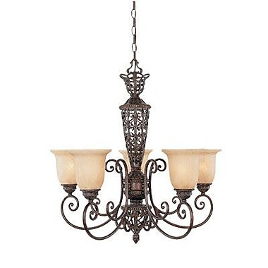 Designers Fountain Amherst 5-Light Shaded Chandelier