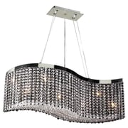 PLC Lighting Clavius-I 8-Light Crystal Chandelier; Black and Clear Crystal
