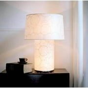 Lights Up! Mombo Grande 32'' H Table Lamp with Empire Shade; Natural Linen