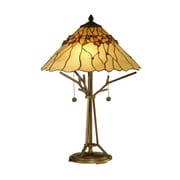 Dale Tiffany Branch Base Tiffany 23'' H Table Lamp with Cone Shade