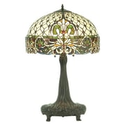 Meyda Tiffany Rococo 31'' H Table Lamp with Bowl Shade