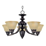 Maxim Lighting Malaga 5-Light Chandelier; Oil Rubbed Bronze with Wilshire Shade