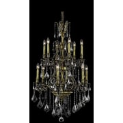 Elegant Lighting Monarch 12 Light Chandelier; Antique Bronze / Silver Shade (Grey) / Royal Cut