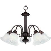 Maxim Lighting Malaga 5-Light Chandelier; Oil Rubbed Bronze with Marble Shade