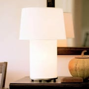Lights Up! Mombo 24'' H Table Lamp with Empire Shade; Natural Linen