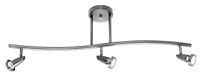 Access Lighting Mirage 3 Light Convertible Pendant; Brushed Steel WYF078276340263