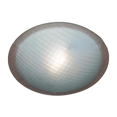 PLC Lighting Nuova 1-Light Flush Mount; Iron / 3'' H x 8'' W / G9
