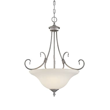 Millennium Lighting Fulton 3-Light Bowl Pendant; Rubbed Silver