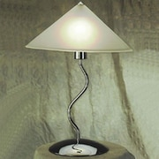 LumiSource Contemporary Lighting Doeli Touch 19'' H Table Lamp  with Cone Shade