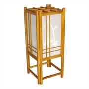 Oriental Furniture Bamboo Tree Shoji 18'' H Table Lamp w/ Rectangular Shade; Honey
