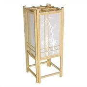 Oriental Furniture Bamboo Tree Shoji 18'' H Table Lamp with Rectangular Shade; Natural