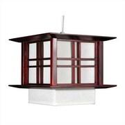 Oriental Furniture Akida 1 Light Hanging Lamp; Rosewood