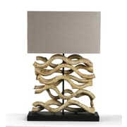 Zentique Le Sculpture 18'' H Table Lamp with Rectangular Shade
