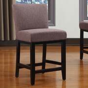 Handy Living Oslo 23'' Bar Stool with Cushion; Brown Linen