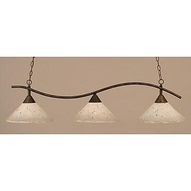 Toltec Lighting Swoop 3 Light Kitchen Island Pendant