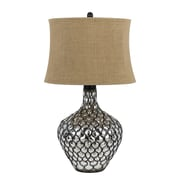 Cal Lighting Puebla 3 Way 30'' H Table Lamp w/ Oval Shade
