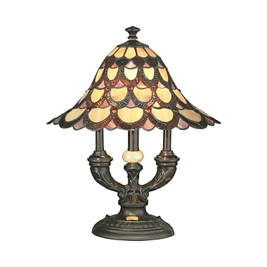 Dale Tiffany Peacock 19'' Table Lamp