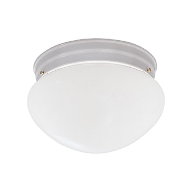 Designers Fountain 2 Light Flush Mount; White / 5.25'' H x 9.5'' W