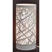 Fantastic Craft Birch Table Lamp w/ Drum Shade; 10.5'' H x 5'' W