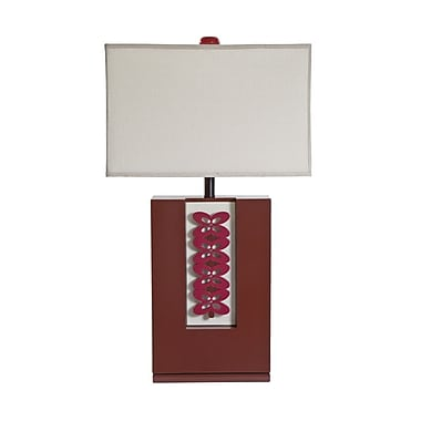 Bungalow Belt 31.5'' Table Lamp; Red