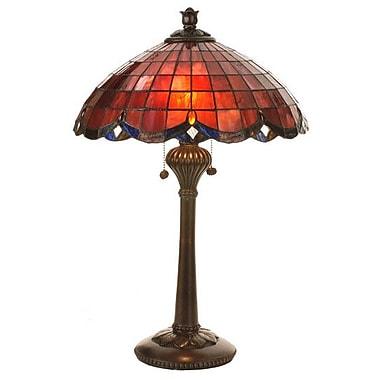 Meyda Tiffany Victorian Elan 24'' Table Lamp; Plum/raspberry