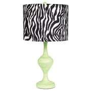 Jubilee Collection Curvature 26.75'' Table Lamp; Modern Green