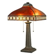 Z-Lite Crimson 2 Light 24'' Table Lamp; Amber
