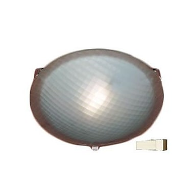 PLC Lighting Nuova 1-Light Flush Mount; Polished Brass / 3.5'' H x 12'' W / J118mm