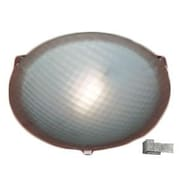 PLC Lighting Nuova 1 Light Flush Mount; Iron / 3.5'' H x 12'' W / J118mm
