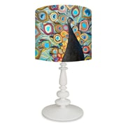 GreenBox Art Peacock Metallic Tide Pool 26'' Table Lamp