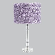 Jubilee Collection Slender Crystal 26'' H Table Lamp Drum Shade; Lavender