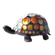 River of Goods Turtle Tiffany Style Stained Glass 4.75'' Table Lamp