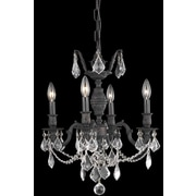 Elegant Lighting Marseille 4 Light  Chandelier; Crystal (Clear) / Elegant Cut