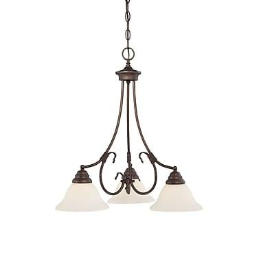 Millennium Lighting Fulton 3-Light Shaded Chandelier; Rubbed Bronze