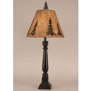Coast Lamp Mfg. Rustic Living Square Buffet 32'' H Table Lamp with Empire Shade