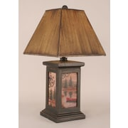 Coast Lamp Mfg. Rustic Living Square Pot 30'' H Table Lamp with Square Shade