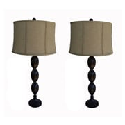Jenkins Lamp, Inc. 33'' H Table Lamp with Drum Shade (Set of 2)