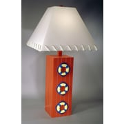 Judith Edwards Designs Three Life Ring 32'' Table Lamp